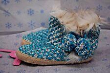 JENNI Womens Slippers Booties M Medium 7- 8 Blue Gray New