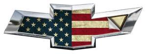 2x American Flag US Universal Chevy Silverado Vinyl Decal Emblem Overlay Sticker