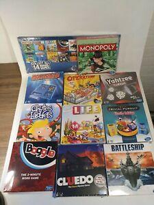 Hasbro Family Favourites Mini Board Games Set of 10 inc Monopoly & Storage Case