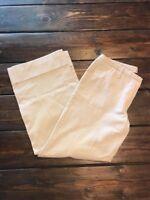 Women's Express Capri Cropped Dress Career Wide Leg Beige Pants Size 3 / 4