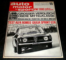 AMS 15/65 Test: Audi 80+Opel Rekord 1700 L, Ford F1-Motor: Keith Duckworth' Kind