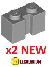 Lego Teile NEU - 2 Pack Brick 1x2 mit Nut 4216 leicht bläulich grau