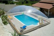 Inflatable TPU Hot Tub Swimming Pool Solar Dome Cover Tent W/ Blower & Pump