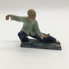 China Wucai Porcelain Xi Shi Decoration Statue Feng Shui Sensei Martial Arts