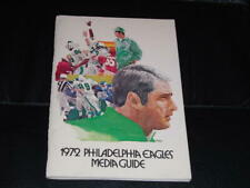 1972 PHILADELPHIA EAGLES NFL FOOTBALL MEDIA GUIDE PROGRAM  NR MINT