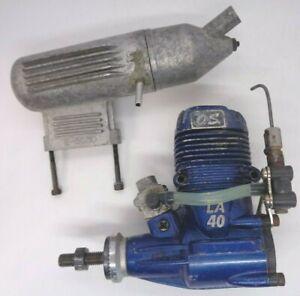 O.S MAX  40LA BLUE  2 STROKE NITRO  AERO ENGINE GOOD  CONDITION