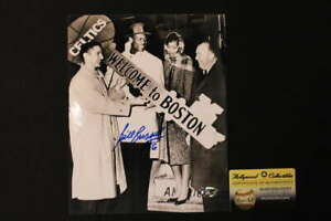 BILL RUSSELL SIGNED 8X10 PHOTO WELCOME TO BOSTON CELTICS AUTOGRAPH COA JB831