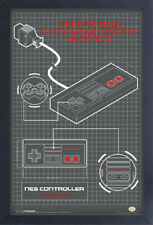 NINTENDO NES CONTROLLER DIAGRAM 13x19 FRAMED GELCOAT POSTER VIDEO GAME VINTAGE!!