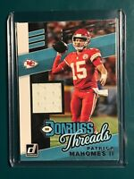 2019 DonrussThreads White Player Worn patch Patrick Mahomes T-22 Chiefs