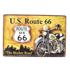 Vintage Tin Metal Signs US Route 66 Poster Pub Bar Decor Art Wall Hanging