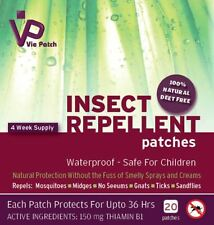 Mosquito / Insect Repellent Patch by Vie Patch -  20 Patches - 4 Weeks Supply.