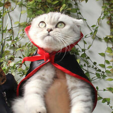 Pet Vampire Costume For Halloween Outfits with Cloak Small Dog and Cat Clothes