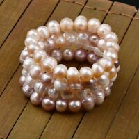 8mm Irregular Natural Freshwater Pearl Bracelet Women's Jewelry