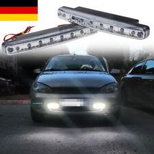 2x 8 LED Tagfahrlicht 12V Tagfahrlicht E4 R87 Tagfahrleuchten Daylight DRL DHL