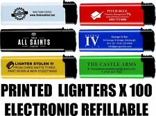 PRINTED PERSONALISED LIGHTERS PUB LIGHTERS CLUB PROMOTIONAL X100