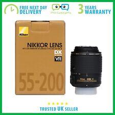 Nikon Af-s Nikkor 55-200 mm F/4-5.6 DX ED VR II caja por menor - 3 Año De Garantía