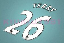 Chelsea Terry #26 PREMIER LEAGUE 07-13 White Name/Number Set