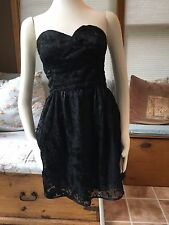 Sparkle and & Fade Black Burnout Strapless Dress 10 Excellent