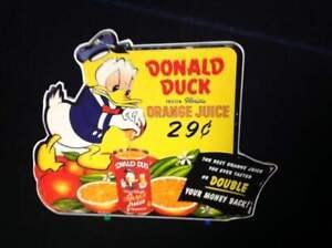 Donald Duck orange juice standee store display poster figure 1