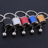 Balck 6-Speed Gearshift Gear Shift Gearbox Bag Key Ring Keyring Keychain Gi U3O9