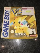 Pokemon Yellow Version Special Pikachu Edition Nintendo GameBoy Game