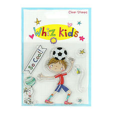 WIZZ Kid Clear Stamp calcio ideale per schede e Artigianato