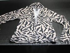Love Medium Cotton Zebra Animal Print Cardigan Sweater ~ 4664