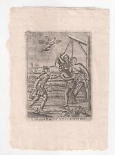 Santino Holy Card Incisione 1700 S.MENNA M. St MENNAS Martyr