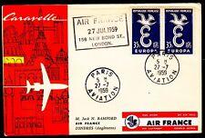"Erstflug AIR FRANCE ""Paris - London"" 25.07.1959 !! -selten-"