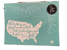 NEW ~ RETIRED ~ Liberty /& Justice For All Chalk Couture transfer