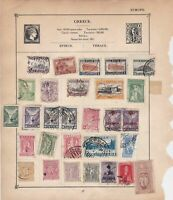 Greece & Germany Stamps on Album Page ref  R 18871