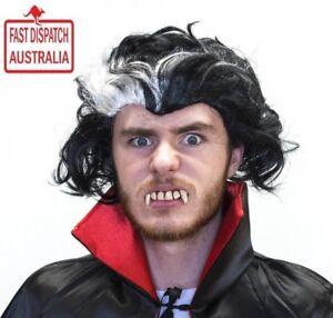 Men's Dracula Vampire Wig Fancy Dress Costume Adult Bloodthirsty Party Halloween