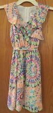 BLUSH BY US ANGELS PASTEL PRINT SLEEVELESS DRESSY DRESS CHILD SIZE 8