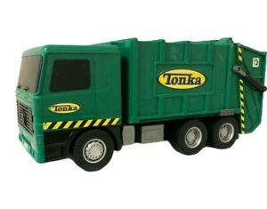 Hasbro Tonka Trash Garbage Recycling Green Truck Sounds Headlights Work 2002