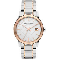 BURBERRY BU9006 THE CITY TWO TONE  SWISS MADE SAPPHIRE CRYSTAL UNISEX WATCH
