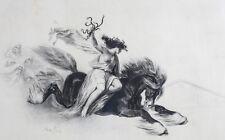 Denis Auguste Raffet (French 1804-1860) Lithograph Affiche pour la Nemesis 1835