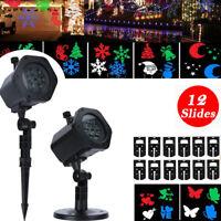 Christmas Laser Projector Light LED MOTION Outdoor Indoor Landscape Lamp 12 Type
