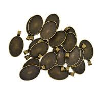20 pezzi in lega di alluminio ovale cammeo fare cabochon impostazione base