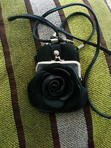 Womens Long Purse Ladies Phone Card Holder rose design