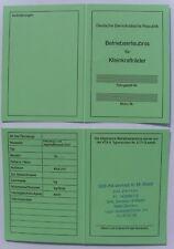 ABE  Betriebserlaubnis SIMSON veb DDR Moped Simme S50 S51 SR50 Blanko Papiere