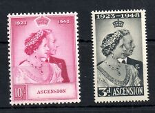 Ascension 1948 Silver Wedding LHM set SG50-51 WS19389
