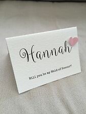 Handmade Personalised Will You Be My Bridesmaid Flower Girl Maid of Honour 3D