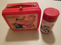 Vintage 1986 Popples Red Lunchbox & Thermos Aladdin Kid's Lunch Pail Collectors