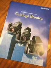 Depliant Italiano ZENZA BRONICA - Italian Language Folder ETR Si / SQ-Ai / GS-1