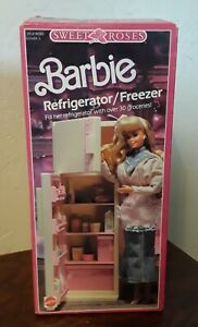 Vintage 1987 Mattel Barbie SWEET ROSES Refrigerator/Freezer NEW #4776