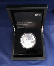 "2014 Silver Proof 5oz £10 coin ""Year of the Horse"" in Case with COA   (Z1/1)"