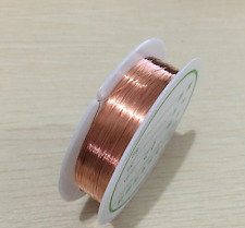 3 Roll Magnet Wire AWG Gauge Enameled Copper Coil Winding 0.1mm Fast VGCA