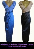 New KAREN MILLEN Satin BNWT £295 Maxi Evening Party Ball Gown Prom Pencil Dress