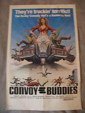 CONVOY BUDDIES 1977 Terrance Hall GGA Trucker One Sheet Poster VG C 6