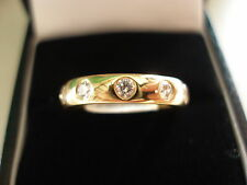 18 CARAT YELLOW GOLD DIAMOND SET WEDDING / ETERNITY RING BNIB MADE IN ENGLAND